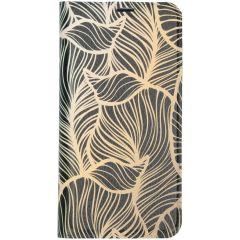 Custodia Portafoglio Design  Samsung Galaxy A10 - Golden Leaves