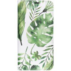 Custodia Portafoglio Design  Samsung Galaxy A10 - Monstera leafs design