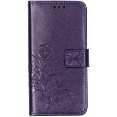 Custodia Portafoglio Fiori di Trifoglio Samsung Galaxy A10 - Viola