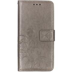 Custodia Portafoglio Fiori di Trifoglio Samsung Galaxy A10 - Grigio