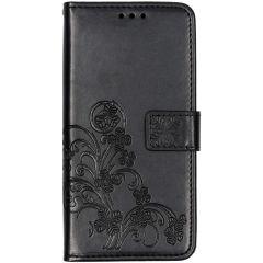 Custodia Portafoglio Fiori di Trifoglio Samsung Galaxy A10 - Nero