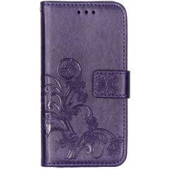 Custodia Portafoglio Fiori di Trifoglio Samsung Galaxy A20e - Viola