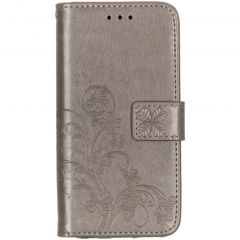 Custodia Portafoglio Fiori di Trifoglio Samsung Galaxy A20e - Grigio
