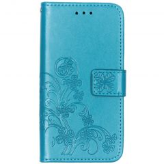 Custodia Portafoglio Fiori di Trifoglio Samsung Galaxy A20e - Turchese