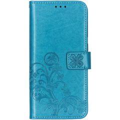 Custodia Portafoglio Fiori di Trifoglio Samsung Galaxy A70 - Turchese