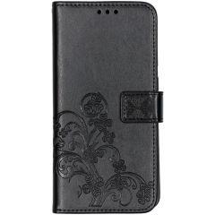 Custodia Portafoglio Fiori di Trifoglio Samsung Galaxy A70 - Nero