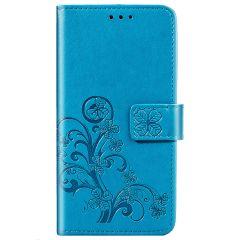 Custodia Portafoglio Fiori di Trifoglio Samsung Galaxy S20 FE - Turchese