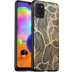 iMoshion Cover Design Samsung Galaxy A31 - Golden Leaves