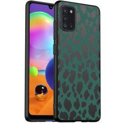 iMoshion Cover Design Samsung Galaxy A31 - Green Leopard