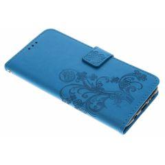 Custodia Portafoglio Fiori di Trifoglio Samsung Galaxy S9 Plus - Turchese
