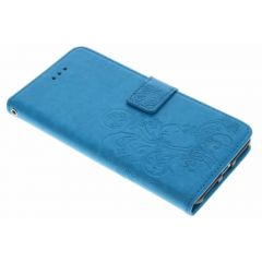 Custodia Portafoglio Fiori di Trifoglio iPhone 8 Plus / 7 Plus - Turchese