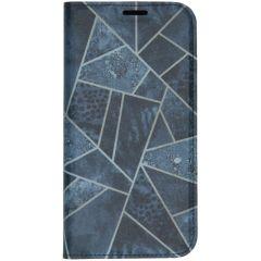 Custodia Portafoglio Design  iPhone 11 Pro Max - Blauw grafisch design