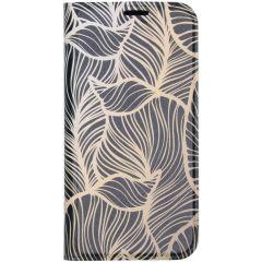 Custodia Portafoglio Design  iPhone 11 Pro Max - Golden Leaves