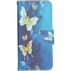 Custodia Portafoglio Flessibile Samsung Galaxy Note 20 - Blue Butterfly