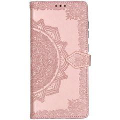 Custodia Portafoglio Mandala Samsung Galaxy A71 - Rosa chiaro