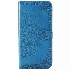 Custodia Portafoglio Mandala Samsung Galaxy Note 20 - Turchese