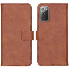 iMoshion Custodia Portafoglio de Luxe Samsung Galaxy Note 20 - Marrone