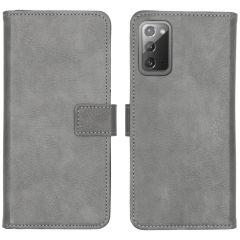 iMoshion Custodia Portafoglio de Luxe Samsung Galaxy Note 20 - Grigio