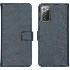 iMoshion Custodia Portafoglio de Luxe Samsung Galaxy Note 20 - Blu scuro