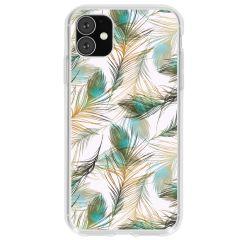 Cover Design iPhone 11 - Golden Peacock