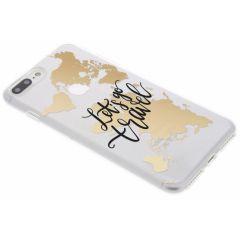 Cover Design iPhone 8 Plus / 7 Plus - Quote World Map