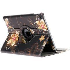 Custodia a Libro Design Girevole a 360° iPad Air 2 - Butterfly Flowers