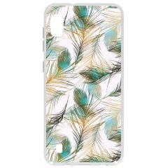 Cover Design Samsung Galaxy A10 - Gold Peacock