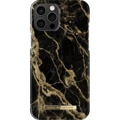 iDeal of Sweden Fashion Cover iPhone 12 Pro Max - Golden Smoke Marble