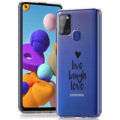 iMoshion Cover Design Samsung Galaxy A21s - Live Laugh Love