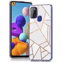 iMoshion Cover Design Samsung Galaxy A21s - White Graphic