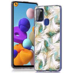 iMoshion Cover Design Samsung Galaxy A21s - Golden Peacock