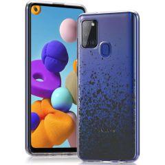 iMoshion Cover Design Samsung Galaxy A21s - Splatter Black