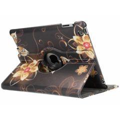 Custodia a Libro Design Girevole a 360° iPad 2 / 3 / 4 - Butterfly Flowers