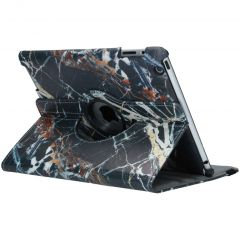 Custodia a Libro Design Girevole a 360° iPad 2 / 3 / 4 - Black Marble