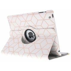 Custodia a Libro Design Girevole a 360° iPad 2 / 3 / 4 - Cubes Rose Gold