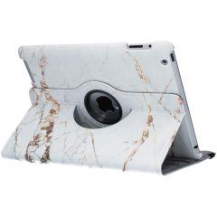 Custodia a Libro Design Girevole a 360° iPad 2 / 3 / 4 - White Marble