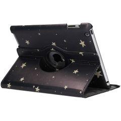 Custodia a Libro Design Girevole a 360° iPad 2 / 3 / 4 - Golden Stars