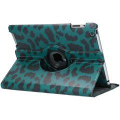 Custodia a Libro Design Girevole a 360° iPad 2 / 3 / 4 - Green Leopard