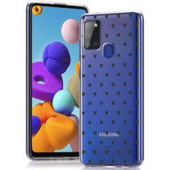 iMoshion Cover Design Samsung Galaxy A21s - Hearts All Over Black