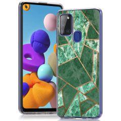 iMoshion Cover Design Samsung Galaxy A21s - Green Graphic
