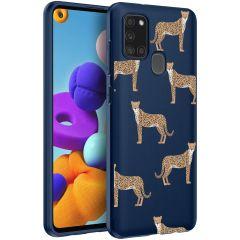 iMoshion Cover Design Samsung Galaxy A21s - Leopard Animal