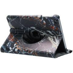 Custodia a Libro Design Girevole a 360° iPad Mini / 2 / 3 - Black Marble