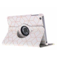 Custodia a Libro Design Girevole a 360° iPad Mini / 2 / 3 - Cubes Rose Gold