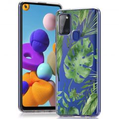 iMoshion Cover Design Samsung Galaxy A21s - Monstera Leaves