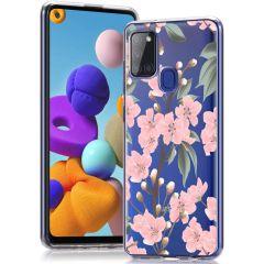 iMoshion Cover Design Samsung Galaxy A21s - Cherry Blossom