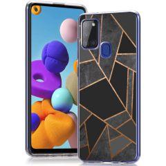iMoshion Cover Design Samsung Galaxy A21s - Black Graphic