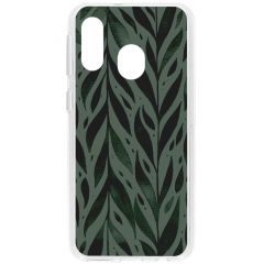 Cover Design Samsung Galaxy A40 - Green Leaves