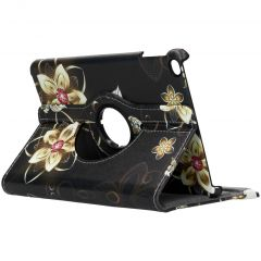 Custodia a Libro Design Girevole a 360° iPad mini (2019) / Mini 4 - Butterfly Flowers