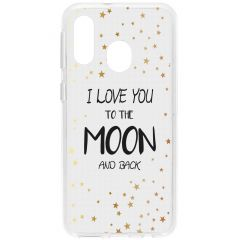 Cover Design Samsung Galaxy A40 - To The Moon