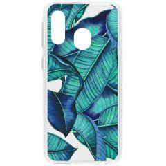 Cover Design Samsung Galaxy A40 - Blue Botanic